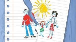 dibujo familia rota